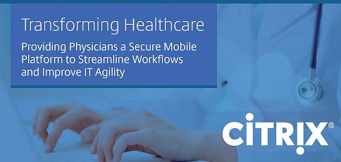 Image featuring Citrix for the healthcare vertical
