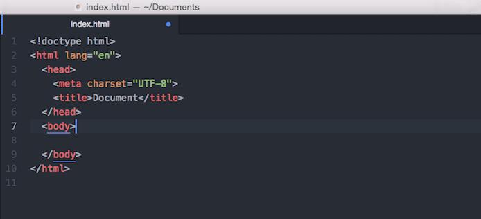 Screenshot of index.html