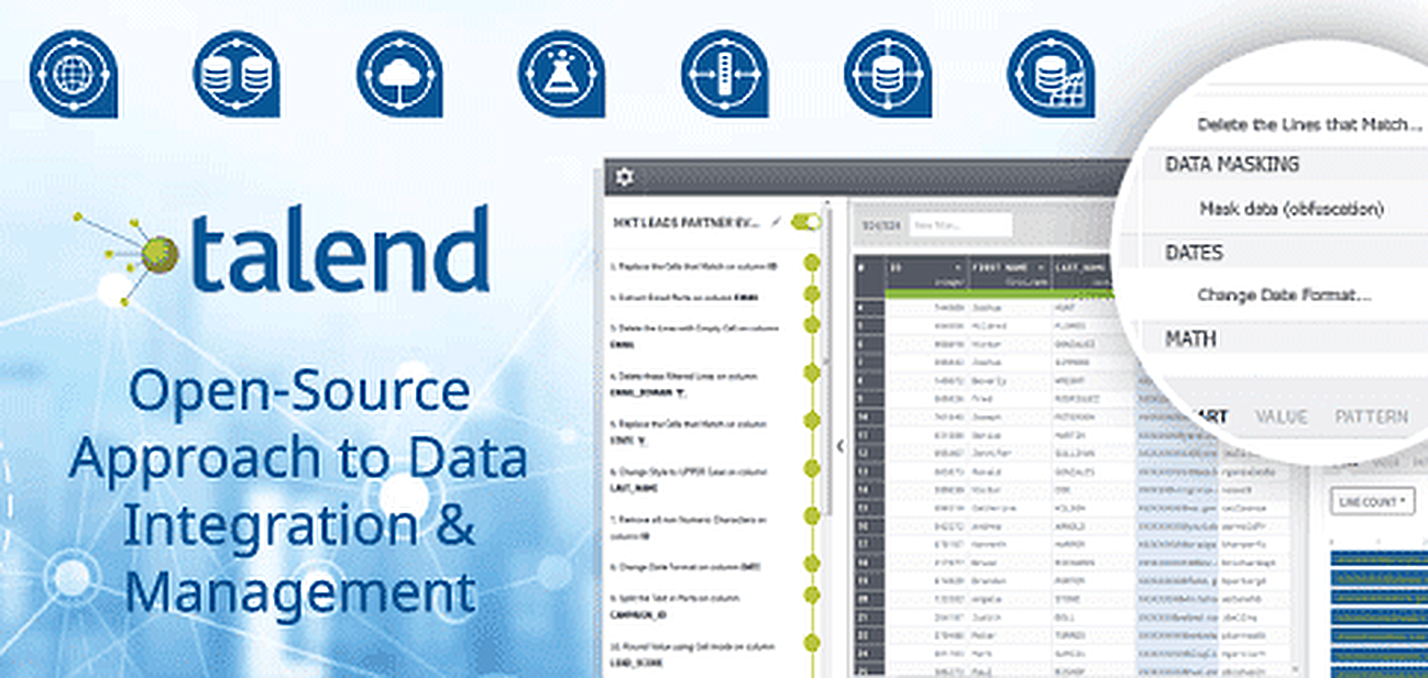 Talend's Open-Source Approach to Serving Data-Driven Enterprises: Accelerated Large-Scale Data Ingestion at an Affordable Rate