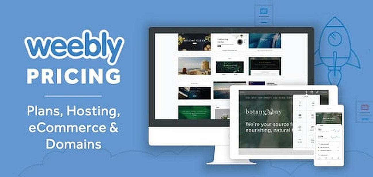 Weebly Pricing & Plans 2019 — Web Hosting, eCommerce, and Domains