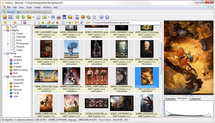 Screenshot of XnView