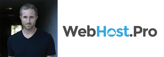 Charles Yarborough's headshot and WebHost.Pro logo