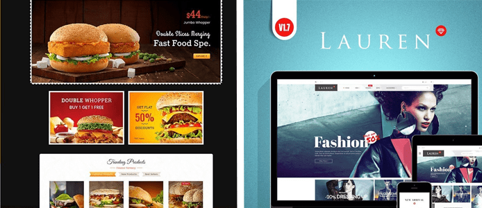 Collage of two PrestaShop themes