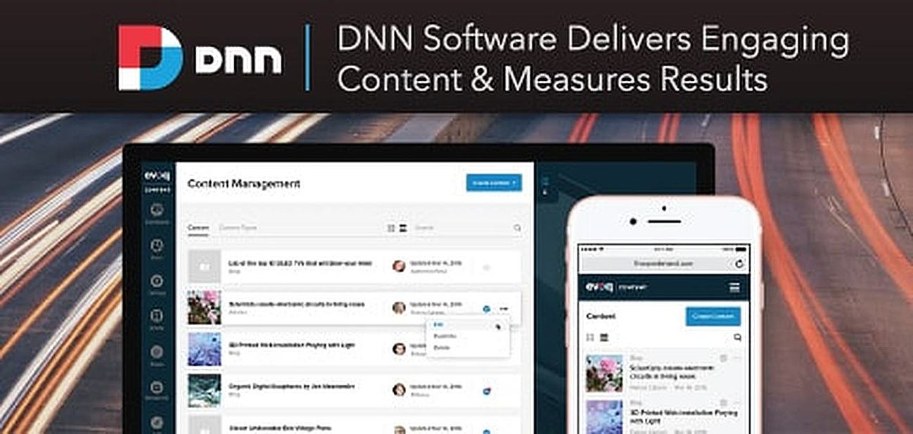 DNN Software: Powering 750K+ Sites Worldwide to Help Businesses Seamlessly Deploy Content, Engage Audiences, and Measure Results