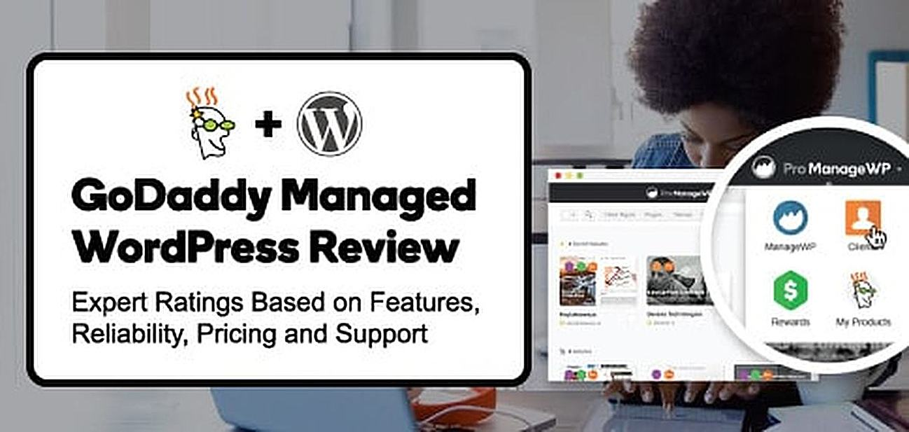 GoDaddy managed WordPress graphic