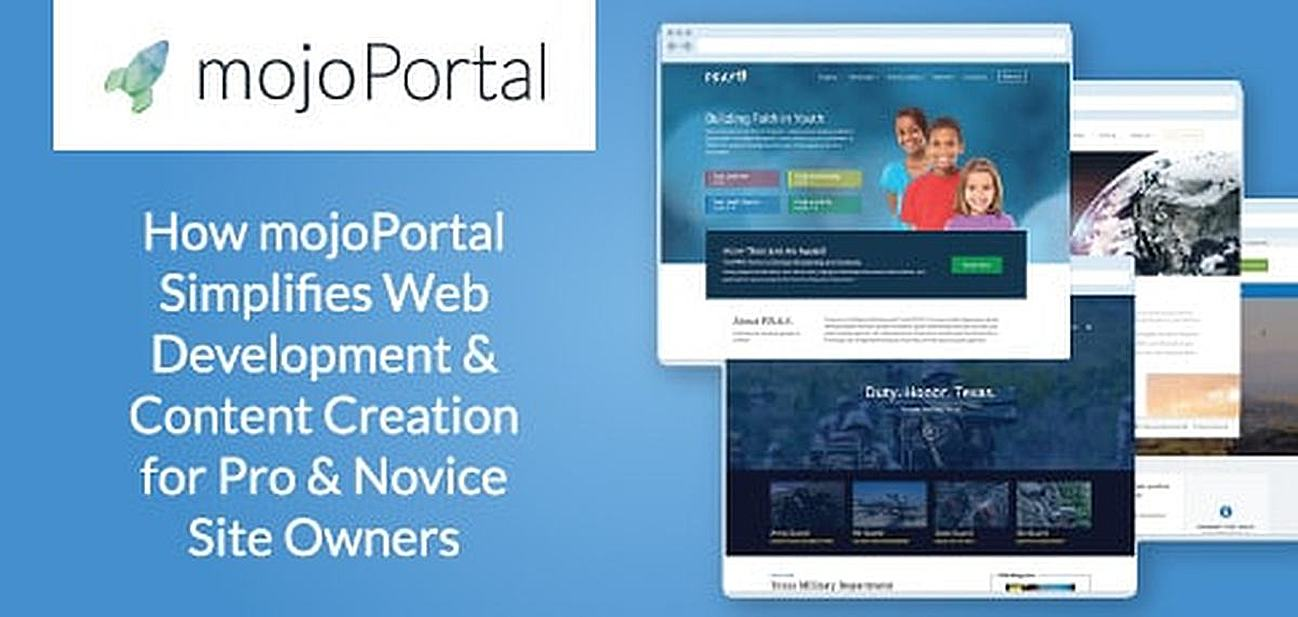 How mojoPortal's Intuitive & Extensible CMS Optimizes Web Development Processes for Pros & Provides Simplified Content Creation for Site Owners