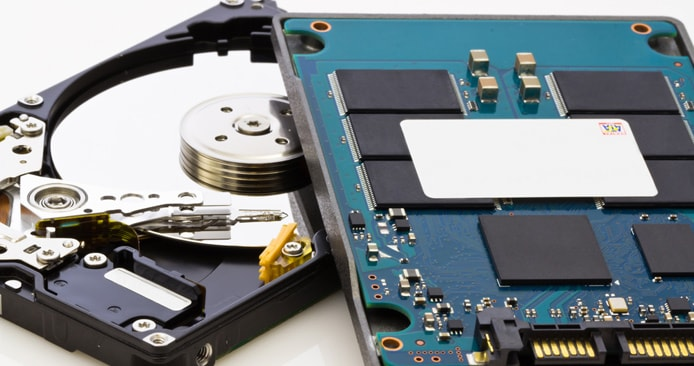 Image of HDD and SSD