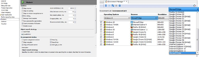 Screenshots of SmartBear testing programs