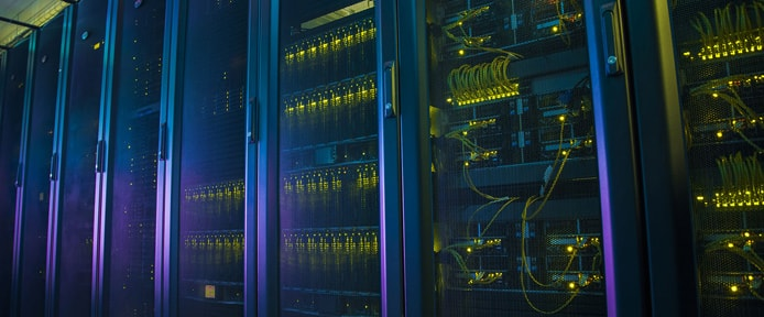 Image of a row of servers