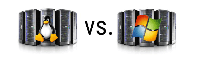 Linux Server vs. Windows Server Image