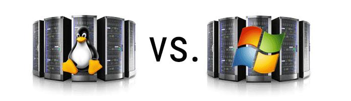 Linux Server vs. Windows Server Image