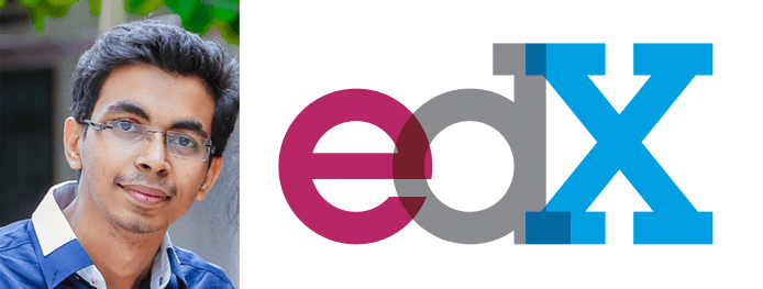 Collage of Akshay Kulkarni's headshot and the edX logo