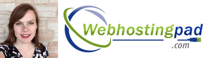 Jessa Vanderpoel's headshot and the WebHostingPad logo