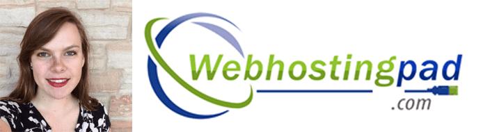 Jessa Vanderpoel's headshot and the WebHostingPad logo
