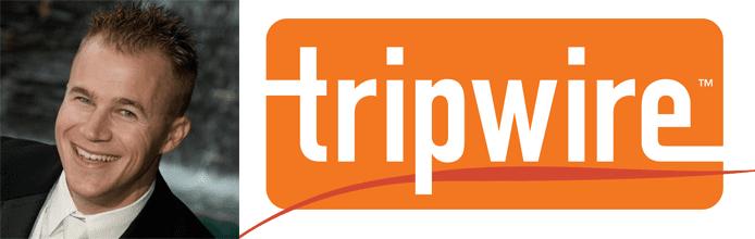 Travis Smith's headshot and the Tripwire logo