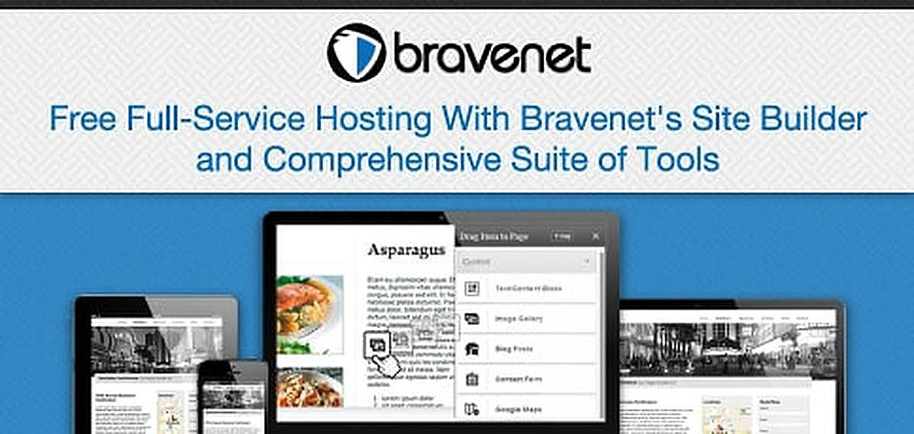 Free Full-Service Hosting With Bravenet's Site Builder and Tools