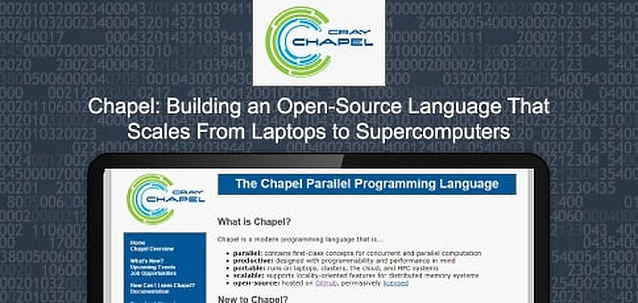 Building an Open-Source Language That Scales From Laptops to Supercomputers