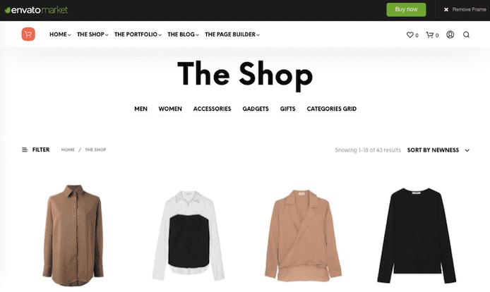 ShopKeeper theme screenshot