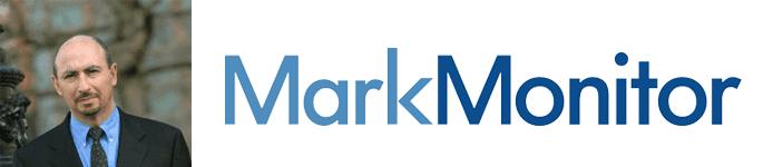 Charlie Abrahams's headshot and MarkMonitor logo