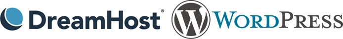 DreamHost and WordPress logos
