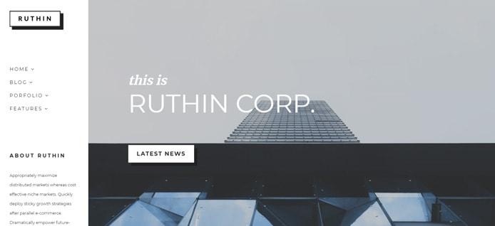Screenshot of Ruthin WordPress theme