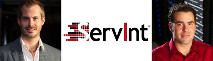 Images of Reed Caldwell and Devon Rutherford with ServInt logo