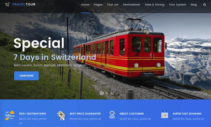 TravelTour theme screenshot