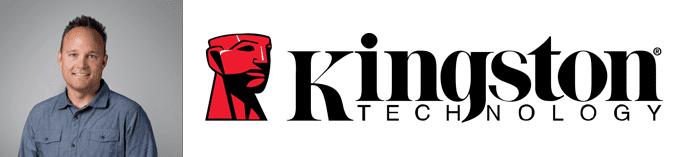 Cameron Crandall's headshot and the Kingston Technology logo