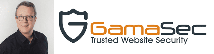 Rob Zimmer's headshot and the GamaSec logo