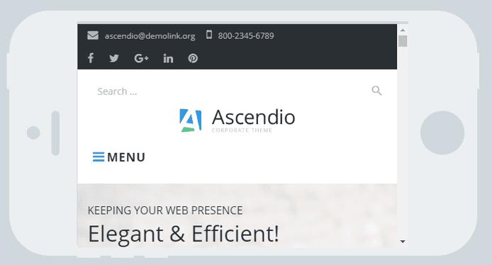 Screenshot of Ascendio on a mobile phone