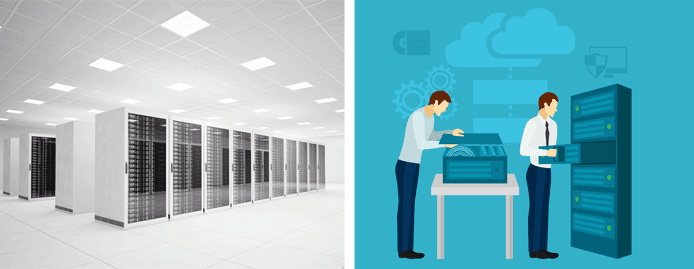 Datacenter and managed server services graphic