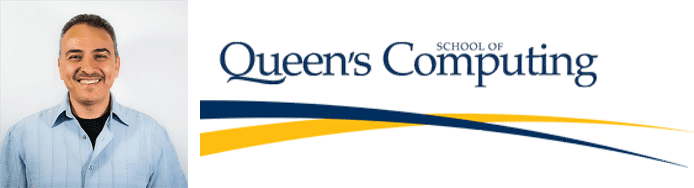 Hossam Hassanein's headshot and Queen's School of Computing logo
