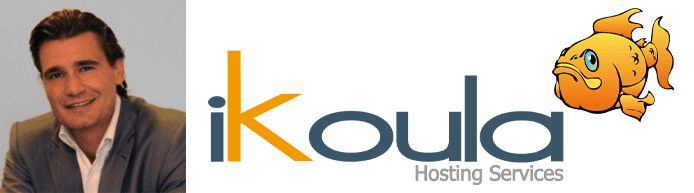 Collage of Guillaume Lamiaux's headshot and the Ikoula logo