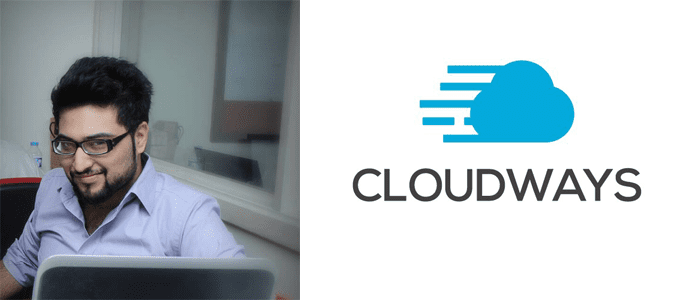 Owais Khan's headshot and the Cloudways logo