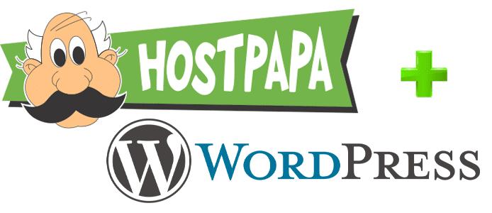 HostPapa and WordPress logos