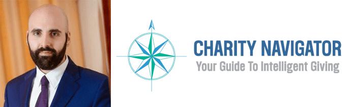 David Bruce Borenstein's headshot and the Charity Navigator logo