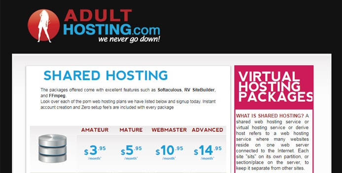 hosting domain Adult free