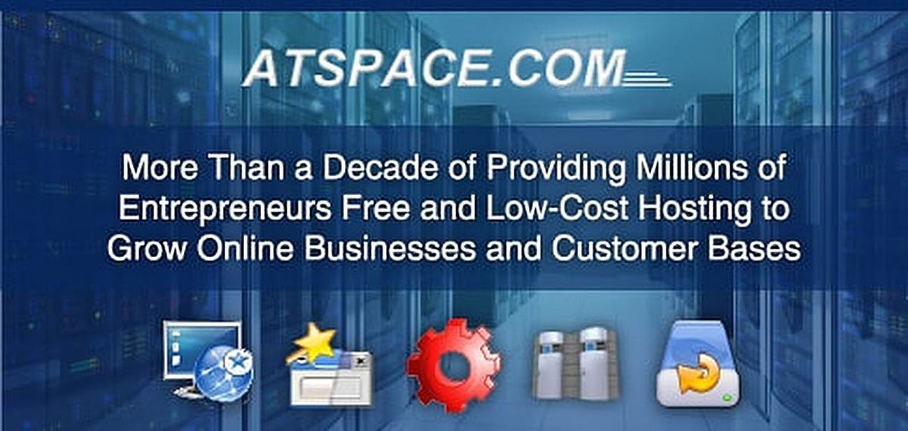 Atspace — More Than a Decade of Providing Millions of Entrepreneurs Free and Low-Cost Hosting to Grow Online Businesses and Customer Bases