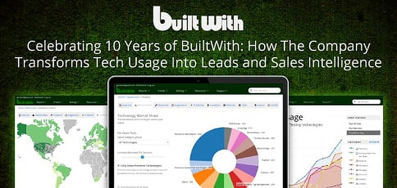 How BuiltWith Transforms Tech Usage Stats Into Leads and Sales Intelligence