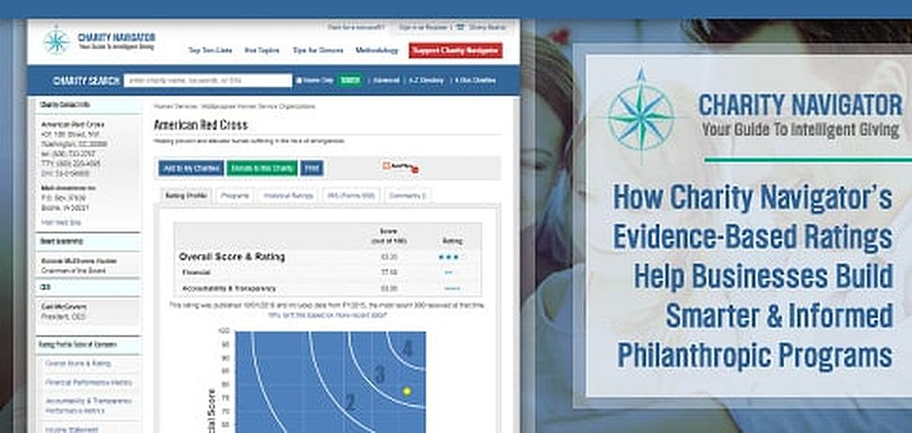 How Charity Navigator's Evidence-Based Ratings of Thousands of Nonprofits Help Startups, SMBs, and Individuals Make Informed Donation Decisions