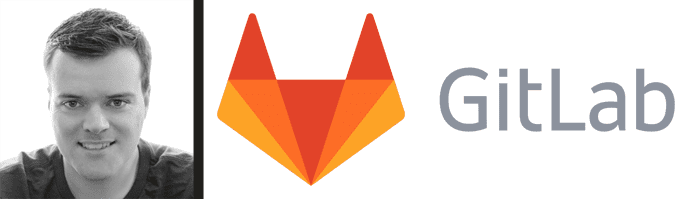 Sid Sijbrandij's headshot and the GitLab logo