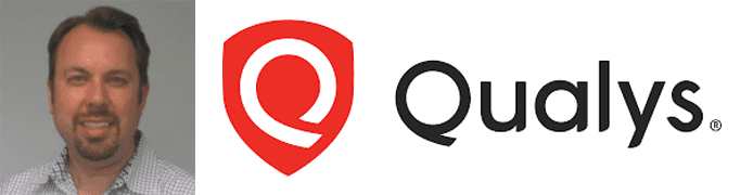 Chris Carlson's headshot and the Qualys logo