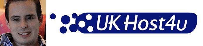 Paul Hughes's headshot and the UKHost4u logo