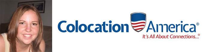 Samantha Walters's headshot and the Colocation America logo