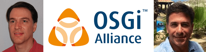 Dan Bandera and BJ Hargrave's headshots and the OSGi Alliance logo