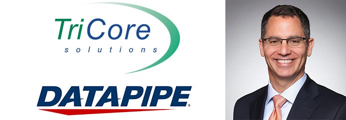 Rackspace CEO Joe Eazor and logos of Datapipe and TriCore Solutions