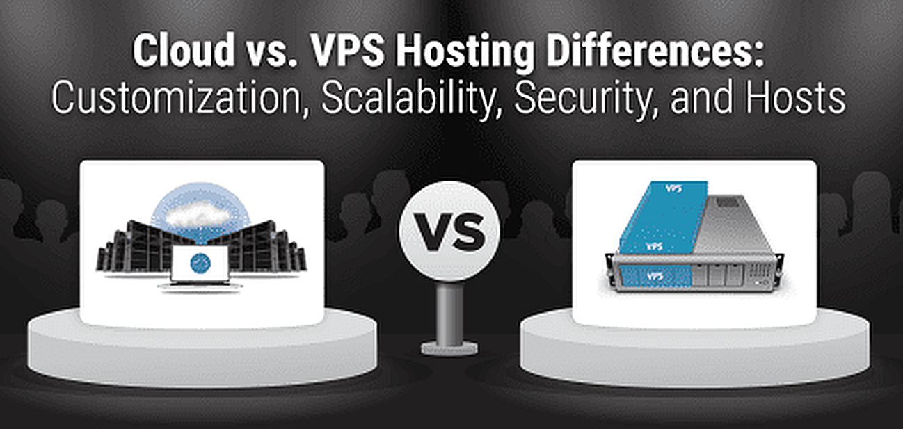 Cloud vs. VPS Graphic
