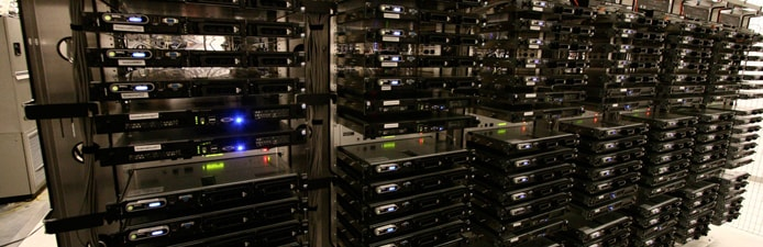Photo of a HostUS server rack