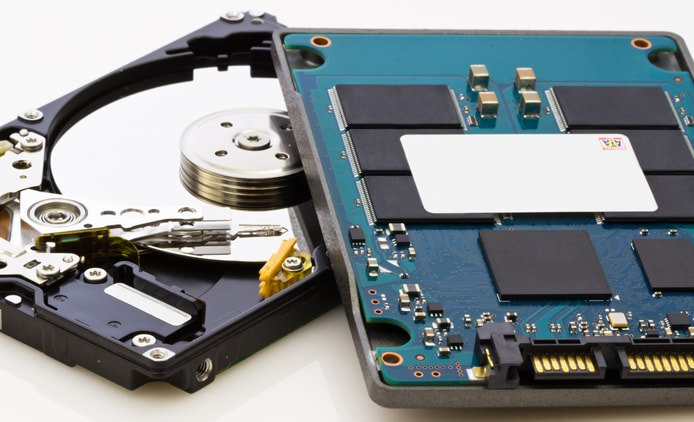 Comparing hard disk drives to solid-state drives