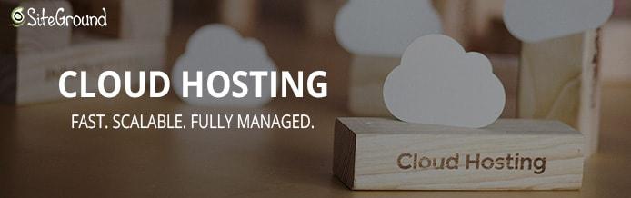 Screenshot of SiteGround cloud hosting